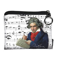 Beethoven textil pénztárca - 12x10 cm 5b1437ce73