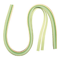 Quillingpapír - zöld/sárga - 53x0,9 cm - 100 db