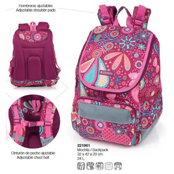23877d6e7c6e Lányos Gabol - Gabol Lucky iskolatáska - hátizsák - 24 literes - GA ...